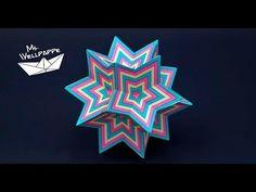 Basteln und mehr...: Sterne basteln zu Weihnachten - einfache Sternenkugel als Weihnachtsdeko