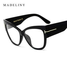 3a37f28341f5 MADELINY Fashion Women Cat Eye Glasses New Oversized Vintage