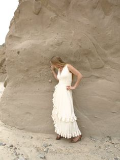Organic Cotton Ruffled Dress Made to Order by yanadee on Etsy, $320.00