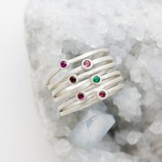 We are always together, if not in person, then in our hearts. These stacked sterling silver rings are soldered representing togetherness and love.