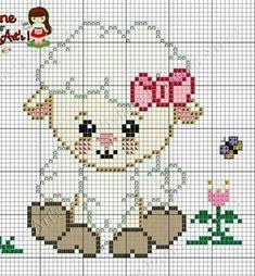 Cute Lamb, Cross Stitch Charts, Modern Cross Stitch Patterns, Cross Stitch For Kids, Cross Stitch Ba Cross Stitch For Kids, Mini Cross Stitch, Cross Stitch Animals, Cross Stitch Charts, Pixel Crochet Blanket, Tapestry Crochet, Baby Blanket Crochet, Crochet Baby, Cross Stitching