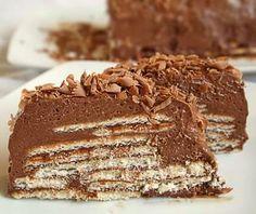 Σοκολάτα με Μπισκότα ! Γλυκό ψυγείου !! ~ ΜΑΓΕΙΡΙΚΗ ΚΑΙ ΣΥΝΤΑΓΕΣ
