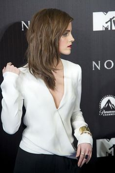 Emma Watson at the premiere of Noah in Madrid Hermione Granger, Emma Watson Sexiest, Emma Watson Beautiful, Emma Watson Style, Emma Watson Casual, Emma Watson Hair, Emma Thompson, Celebs, Celebrities