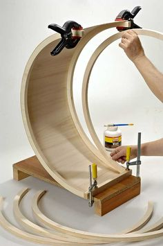 How To Have An Easy Woodworking Project When it comes to woodworking, there is a vast world to learn about. From types of wood to which tools are best, you will find that there is no end to your education. Woodworking Tattoo Ideas, Woodworking Jigsaw, Easy Woodworking Projects, Woodworking Techniques, Diy Wood Projects, Wood Crafts, Woodworking Plans, Steam Bending Wood, How To Bend Wood