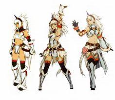 ピクセル One character, three styles (Left) Anime (Middle) Monster Hunter (Right) Fire Emblem Monster Hunter Series, Monster Hunter Art, Monster Girl, Female Character Design, Character Design Inspiration, Character Art, Character Concept, Concept Art, Cry Anime