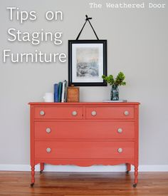 The Weathered Door: Staging furniture for photos