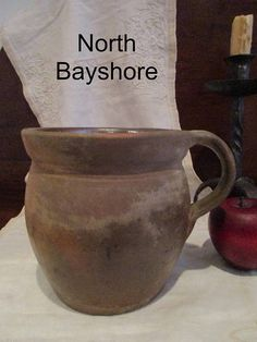 Antique 1800s Pennsylvania Redware Pottery Hand Thrown Tavern $200 1/2018