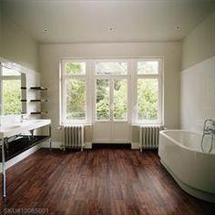 Vinyl Floor Walnut Bathroom View