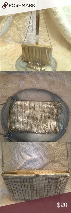 Gold fringe cross-body bag Gold sequins bag with fringe in the front, gold lining and silver zipper.  Great for going out, dresses up any outfit Bags Crossbody Bags