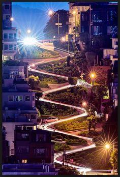 Lombard Street in San Francisco!