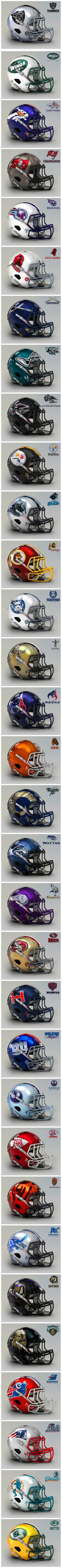 If all 32 NFL teams existed in the Star Wars universe, here is what the helmets…