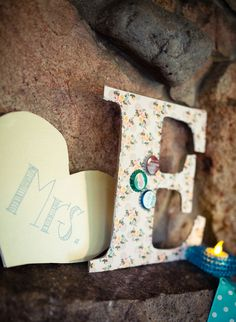 large letters and hearts add personal touches to wedding décor - thereddirtbride.com - see more of this wedding here Initial Decor, Large Letters, Initials, Wedding Decorations, Hearts, Wedding Inspiration, Big Letters, Wedding Decor, Heart