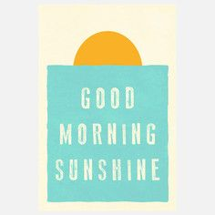 Good Morning Sunshine Canvas, $97, now featured on Fab.