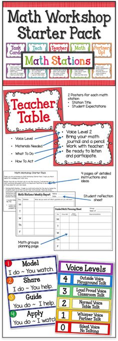 Start using math workshop with guided math groups in your classroom!