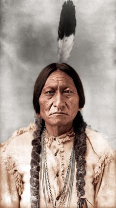 Sitting Bull, Hunkpapa Lakota, photo by D.F. Barry, 1885.(colorized)