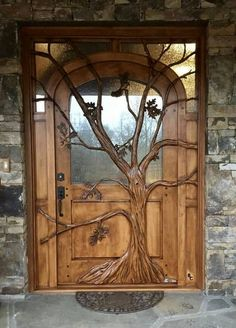 Carved Doors Wooden Ideas Wood Doors Are Warm and Welcoming Carved Doors Wooden Ideas. Custom wood doors, whether elegant or rustic, are a durable choice that can really set off the style of your h…