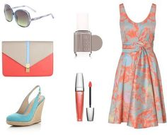 Outfit Ideas for Summer Wedding Guests — The Excited Bride - Denver Bridal Blog  Love these colours.