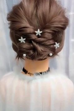 Unique Braided Hairstyles, Simple Wedding Hairstyles, Short Wedding Hair, Easy Hairstyles For Long Hair, Girl Short Hair, Bride Hairstyles, Cute Hairstyles, Beautiful Hairstyles, Party Hairstyles