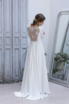 Robe de mariée dos en dentelle Collection Marie Laporte 2014 - modèle Clementina La Fiancée du Panda blog Mariage & Lifestyle