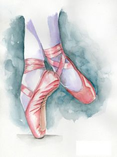 Watercolor Pointe Shoes ♡