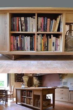 We design and make our bespoke kitchen furniture in our old stone workshop nestled on the edge of the Loire Valley. We deliver within France and the UK. Our freestanding cabinets, bespoke kitchen islands and sideboards all have solid hardwood throughout. #kitchenisland #Frenchkitchen #openshelving #islandideas #kitchenislanddesign