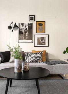 Les petites surfaces du jour : couleurs sombres pour un studio