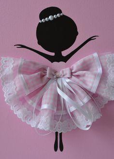 Satz von drei tanzende Ballerinas in Rosa. Kinderzimmer Dekor