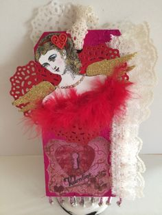 Sue Whittemore's Valentine Tag for the Character Construction Art Stamps Swap
