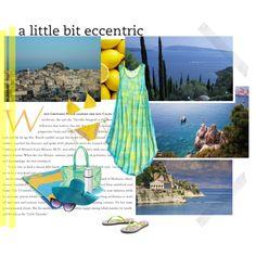 Jaune citron et bleu azur - Méditerranée