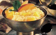 PEACH TAPIOCA PUDDING    ~~~   I still reminisce with old friends about how much we loved this pudding when we were kids.