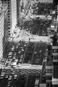 NYC Uptown View by Rinze van Brug, via Behance