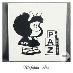 Cuadro Mafalda Madera y vinilo. 30×30 cm.