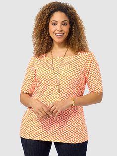 Tangerine Dots Top
