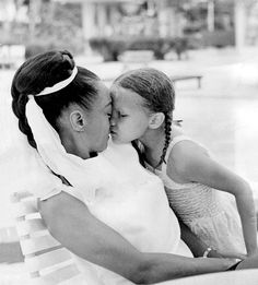 Eartha Kitt with her daughter Kitt McDonald