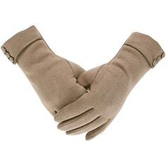 2a39e85d9 Tomily Womens Touch Screen Phone Fleece Windproof Gloves Winter Warm Wear  (Khaki): These gloves are great for any occasion. Use them for driving or  for cold ...