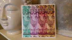 Check out this item in my Etsy shop https://www.etsy.com/listing/289829393/ceramic-tile-ganesha-wall