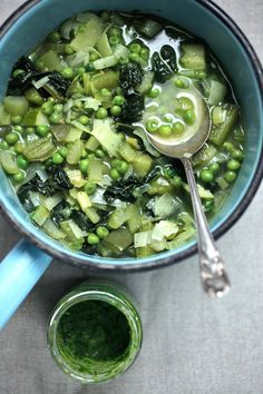 Green Vegetable Minestrone - The Healthy Chef - Teresa Cutter