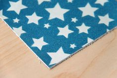 Stars Print on Leather by Pineapple Studio. #textiledesign #surfacedesign