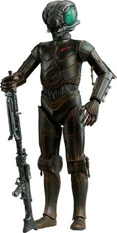 Figura droide 4-LOM 30 cm. Star Wars. Sideshow Collectibles  Estupenda figura de 30 cm de altura del droide de protocolo llamado 4-LOM visto en Star Wars, fabricada en PVC y 100% y licenciada que viene con accesorios y partes intercambiables.