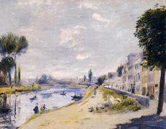 Tableaux sur toile, reproduction de Renoir, Les berges de la Seine