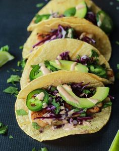Grilled mahi mahi tacos with chipotle lime crema. Get this and more delicious no-oven dinner recipes here.