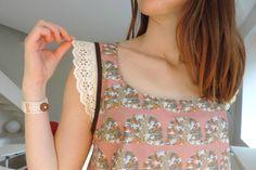 Couture debardeur/ sewing top - blouse sariette folk paon la modette