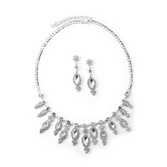 #jeweltweets Silver Crystal Rhinestone Candy Wrapped Shape Charms Necklace & Matching Dangle Earrings Jewelry Set