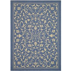 Add a touch of elegance to your living space with this stylish indoor/outdoor area rugs. Featuring a quality polypropylene construction, it offers comfort and durability. The rugs intricate design will look great inside your home and out.