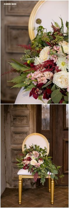 Bridal bouquet photographed by Minnesota wedding photographer Jeannine Marie Photography at Bavaria Downs. #bride #bridalbouquet #pink #burgundy #burgundyflowers #pinkflowers #flowers #floral #weddingflowers #wedding #bouquet #weddingdetails #bridal #minnesotaweddingphotographer #saintpaulweddingphotographer #jeanninemariephotography