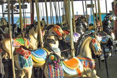 1911 Looff Carousel at the Santa Cruz Beach Boardwalk #RideColorfully