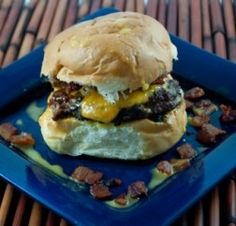 Bacon Cheddar Ale Burger - I'm interested to see how well beer and cheese come together to make a sauce