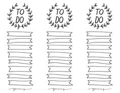 To Do Filofax Printables | Free Printable To-Do Lists