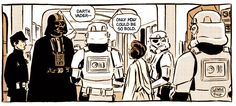 A Daily Project Where Artist George Folz Translates Scenes From 'Star Wars' Into Standalone Comic Panels