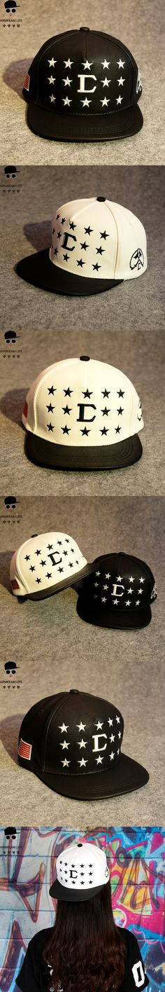 Fashion Star Style Embroidery Baseball Cap Hiphop US National Flag Black Leather Snapback Hats Man Thermal Thickening Casquette